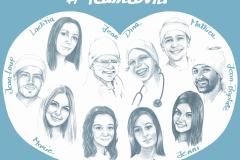 « Equipe de l'hôpital de Castelluccio à Ajaccio  »  de Brigitte Comby Waltham