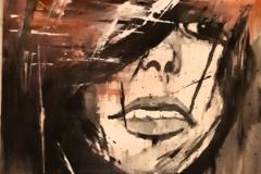 « La Jeune femme triste et pensive »  de Nicole De Pauw